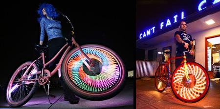 LED Bike Wheel Video Display System