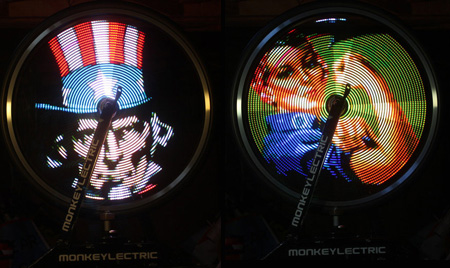 LED Bike Wheel Video Display