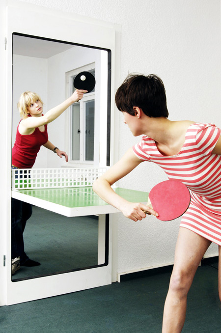 Innovative Ping Pong Door