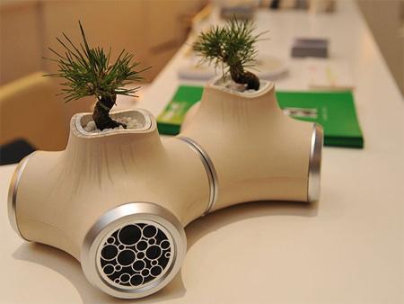 JVC Sound Garden Plant Pot