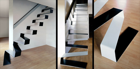 Ribbon Staircase by HSH architects