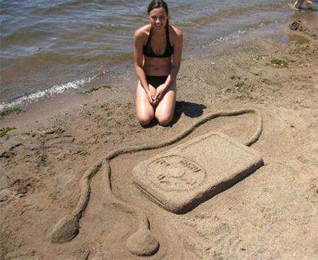 iPod Sand Sculpture