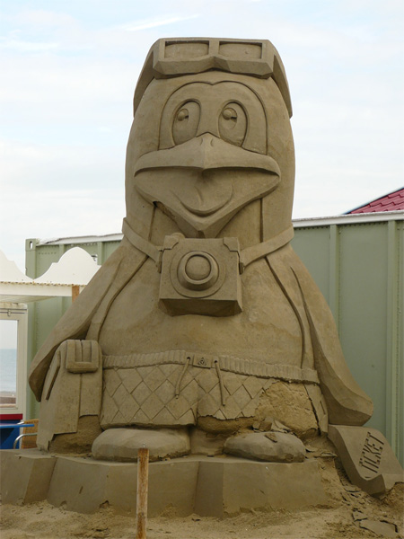 Penguin Sand Sculpture