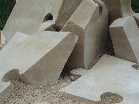 Puzzle Sand Sculpture