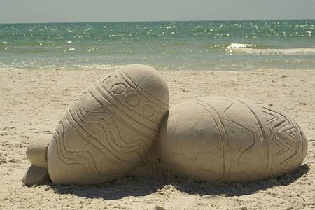 Easter Sunday Sand Sculpture