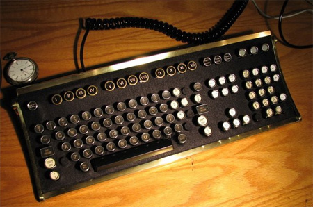 Steampunk Computer Keyboard