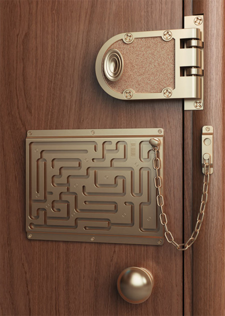 Art Lebedev Labyrinth Security Door Lock