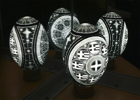 Greek Eggshell Carvings