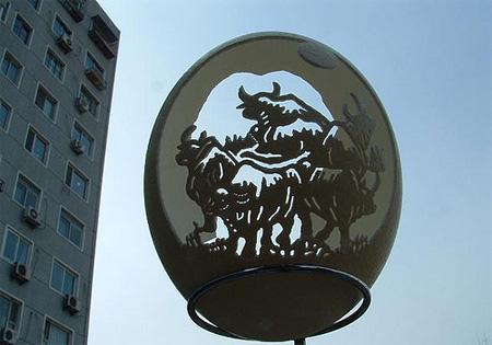 Moo Cows Eggshell Carving
