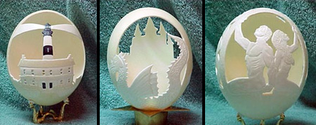 Eggshell Carvings by Egg Salon
