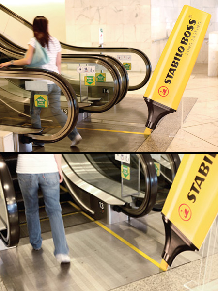 Stabilo Escalator Advertisement
