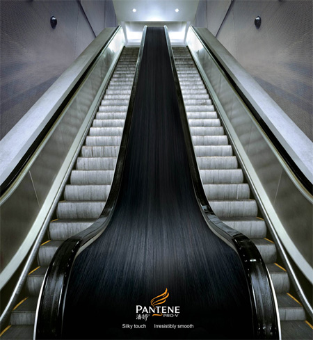 Pantene Escalator Advertisement