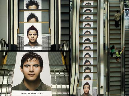 Juice Salon Escalator Advertisement
