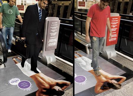 Revita Beauty Centre Escalator Advertisement