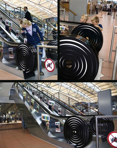Haribo Rotella Escalator Advertisement