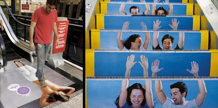 Clever and Creative Escalator Advertising