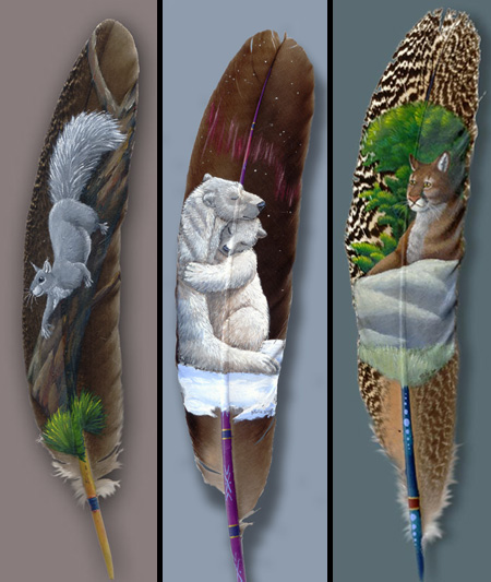 Cool Feather Paintings