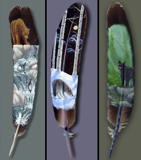 Painted Feathers by Julie Thompson