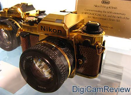 Gold Nikon Camera