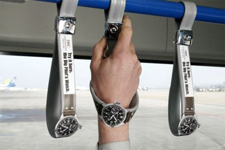 Big Pilot Watch Bus Handle Advertisement