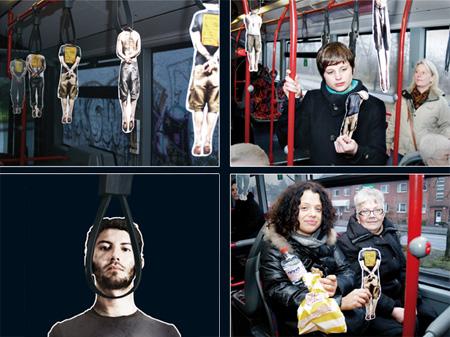 Amnesty International Hang-Men Bus Handle Advertisement