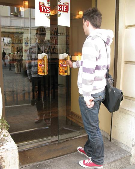 Tyskie Beer Door Handles