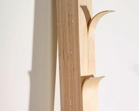 Split Wood Coat Hanger