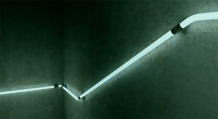 Cool LED Staircase Handrail Concept