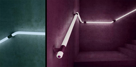 LED Staircase Handrail Concept