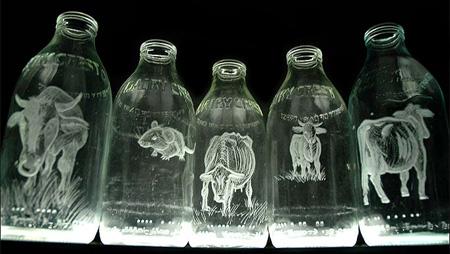Beautiful Milk Bottle Engravings 2