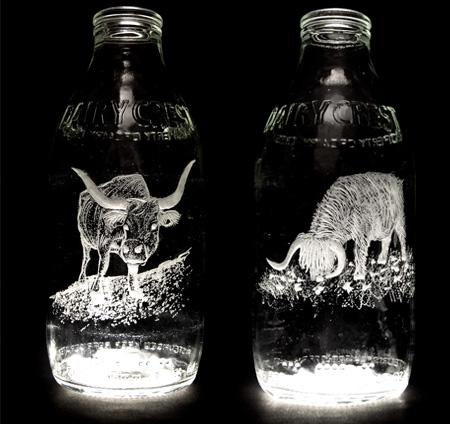 Beautiful Milk Bottle Engravings 3