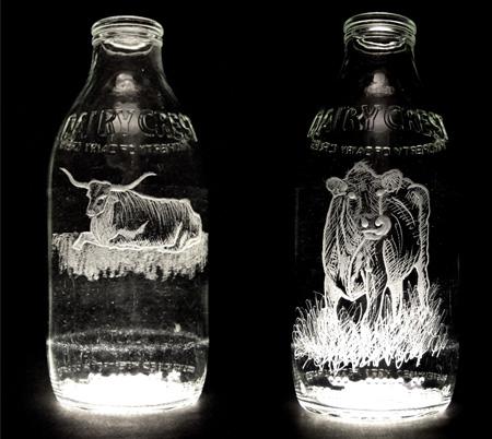 Beautiful Milk Bottle Engravings 5