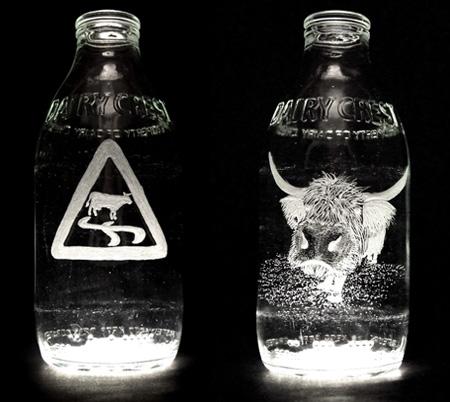 Beautiful Milk Bottle Engravings 6