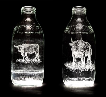 Beautiful Milk Bottle Engravings 8