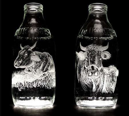 Beautiful Milk Bottle Engravings 9