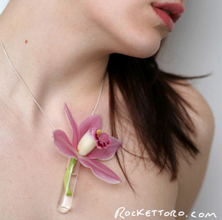 Glass Vase Necklace
