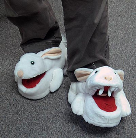 Killer Rabbit Slippers