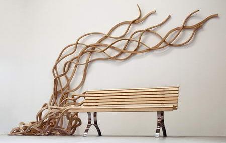 Creative Spaghetti Bench