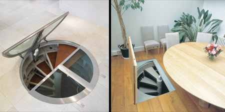 Cool Hidden Spiral Wine Cellars