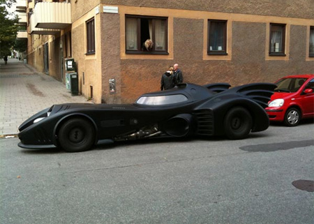 Batmobile Replica in Stockholm