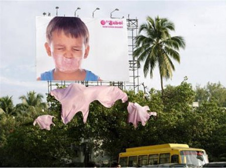Bubble Gum Billboard Advertisement