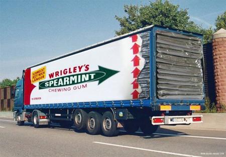 Bubble Gum Truck Advertisement