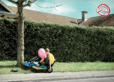 Bazooka Gum Airbag Advertisement