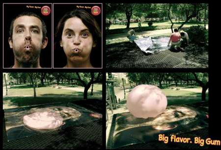 Hubba Bubba Outdoor Ad in Chile