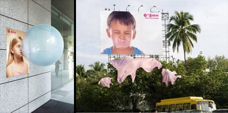 Clever Bubble Gum Advertising Campaigns