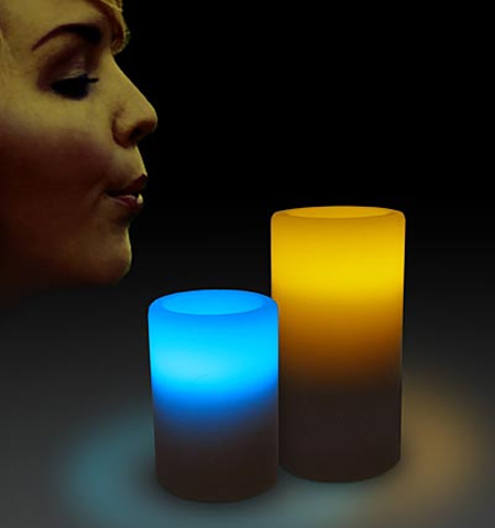 LED Blow On-Off Candles