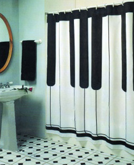 Piano Shower Curtain
