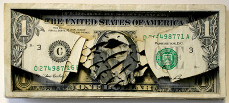 Laser Cut Dollar Art