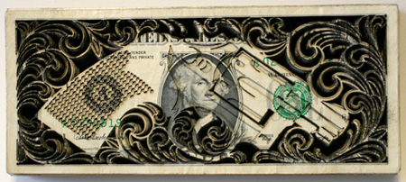 Laser Cut Money Art