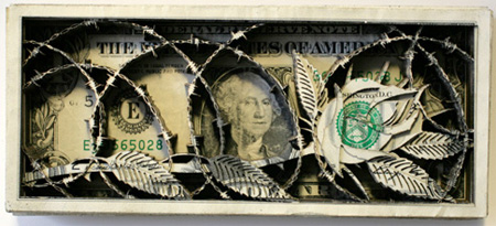 Laser Etched Dollar Art